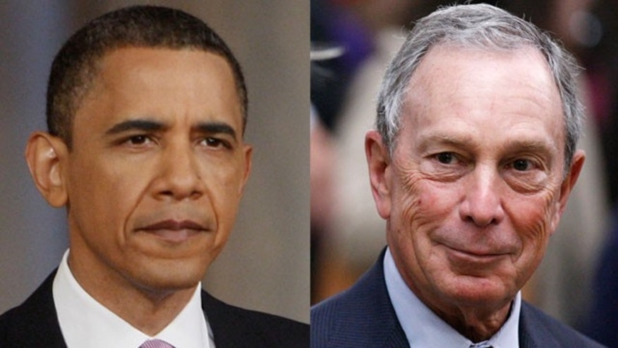 In one hypothetical three-way race with New York City Mayor Mike Bloomberg  as a third-party candidate, President Obama (42 percent) has a clear advantage over both the unnamed Republican candidate (29 percent) and Bloomberg (10 percent).