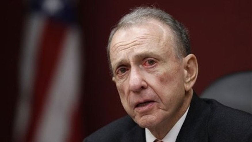Sen. Arlen Specter leads a Senate field hearing in Philadelphia March 29. (AP Photo)