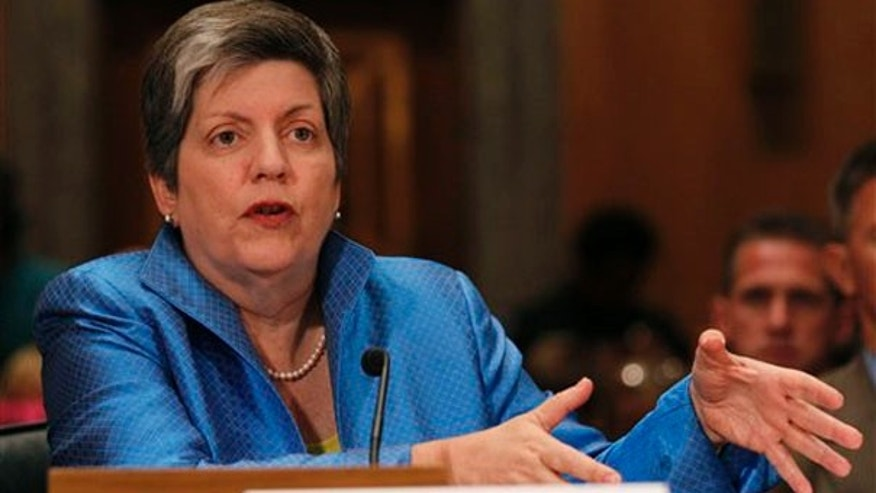Homeland Security Secretary Janet Napolitano speaks at Senate committee hearing on Capitol Hill May 17. (AP Photo)