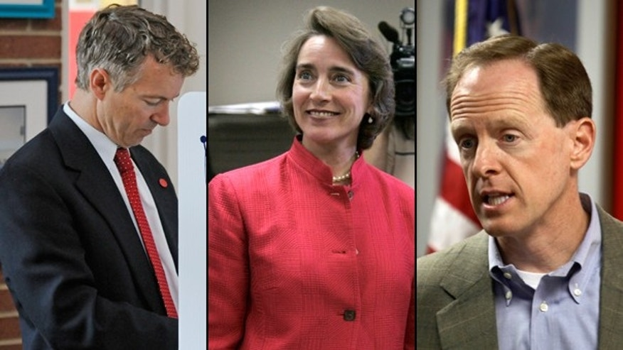 Republican Senate candidate Rand Paul, Sen. Blanche Lincoln, D-Ark., and Pat Toomey, Republican hopeful for the Senate seat held by Arlen Specter, D-Pa. (AP)
