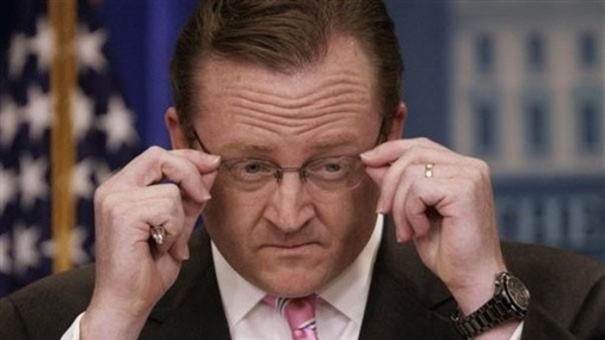 White House Press Secretary Robert Gibbs talks to reporters May 20 in Washington. (AP Photo)