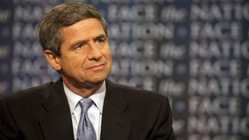 """May 23: In this photo provided by CBS, Rep. Joe Sestak, D-Pa., appears on CBS's """"Face the Nation"""" in Washington (AP)."""