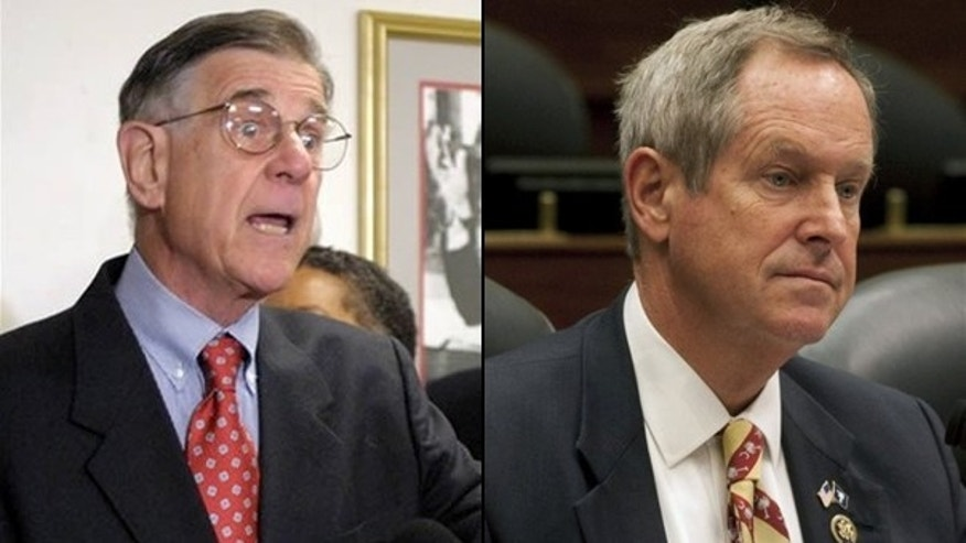 Reps. Pete Stark, (l) and Joe Wilson, (r), are two incumbents considered shoo-ins in Tuesday's primaries. (AP)