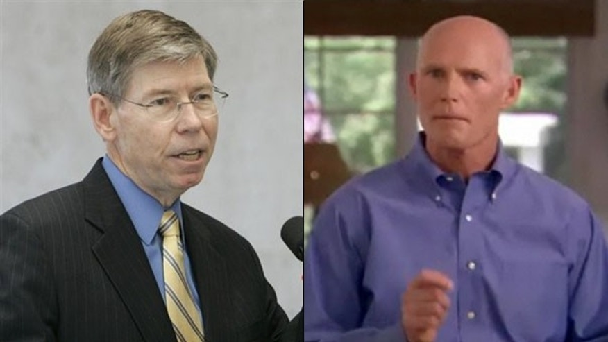 Shown here are Florida Attorney General Bill McCollum, left, and businessman Rick Scott, both GOP candidates for governor in Florida. (AP/Rick Scott for Governor)