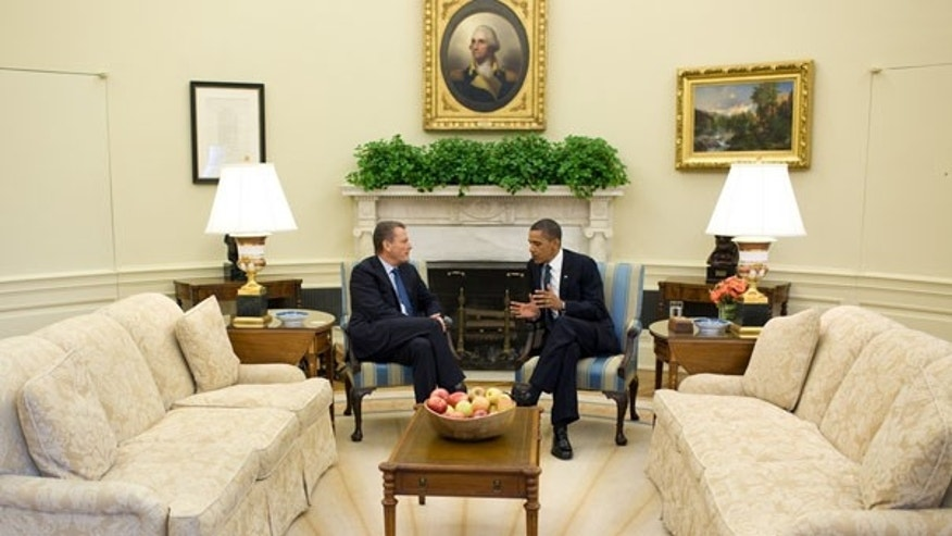 June 16: President Obama meets with BP Chairman Carl-Henric Svanberg in the Oval Office. Svanberg told reporters afterward that BP cares about 'the small people,' a remark that drew an icy reception in the Gulf Coast.