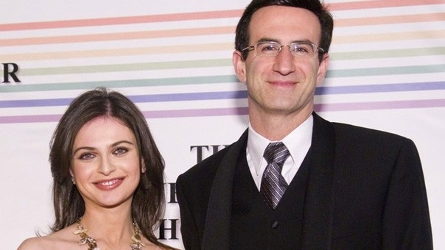 Dec. 6: Peter Orszag and Bianna Golodryga at the 32nd Kennedy Center Honors in Washington. (AFP)