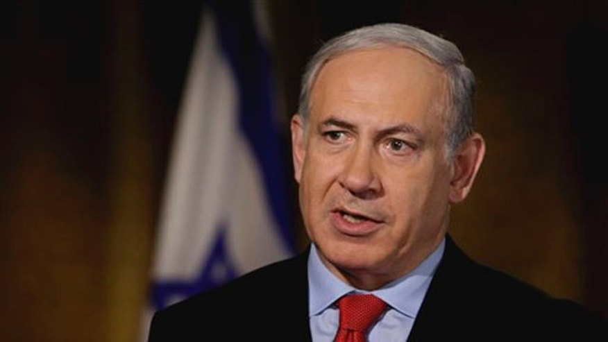 "Israeli Prime Minister Benjamin Netanyahu is interviewed by ""Fox News Sunday"" in New York on July 8. (AP Photo)"