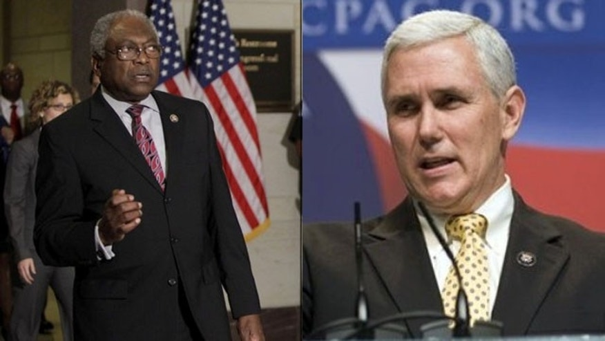 Shown here are Rep. James Clyburn, left, and Rep. Mike Pence. (Reuters/AP Photos)