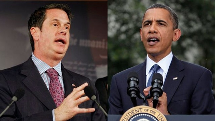 Shown here are Sen. David Vitter, left, and President Obama. (AP Photos)