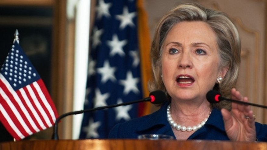 July 19: US Secretary of State Hillary Clinton delivers remarks as she conducts a press conference with Pakistani Foreign Minister Makhdoom Shah Mahmood Qureshi at the Pakistani Foreign Ministry in Islamabad. (AP)