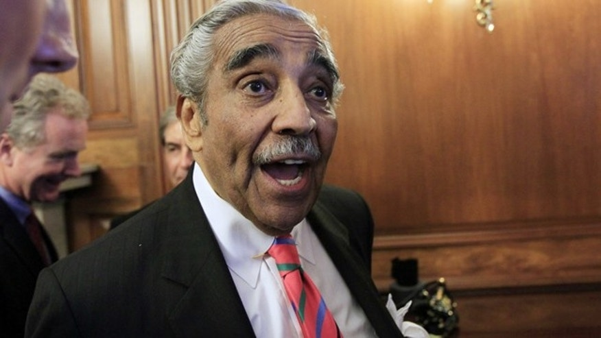 July 22: Rep. Charlie Rangel answers questions from the media on Capitol Hill in Washington.