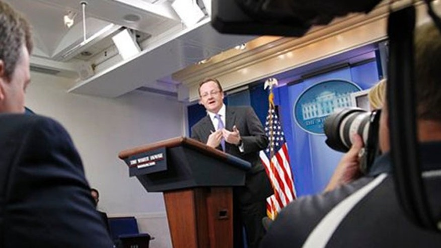 White House Press Secretary Robert Gibbs speaks at the daily press briefing in Washington July 26. (AP Photo)
