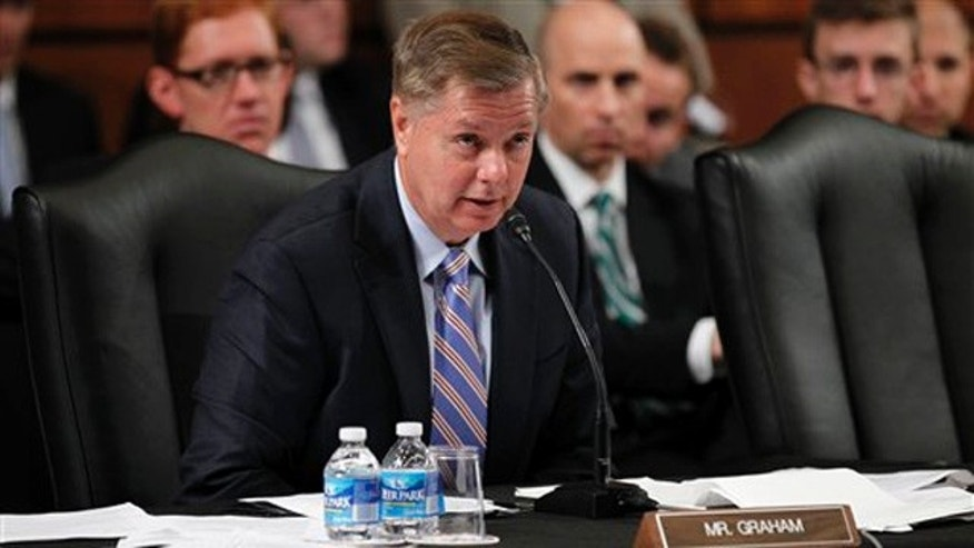 Sen. Lindsey Graham speaks during a hearing of the Senate Judiciary Committee on Capitol Hill July 20. (AP Photo)