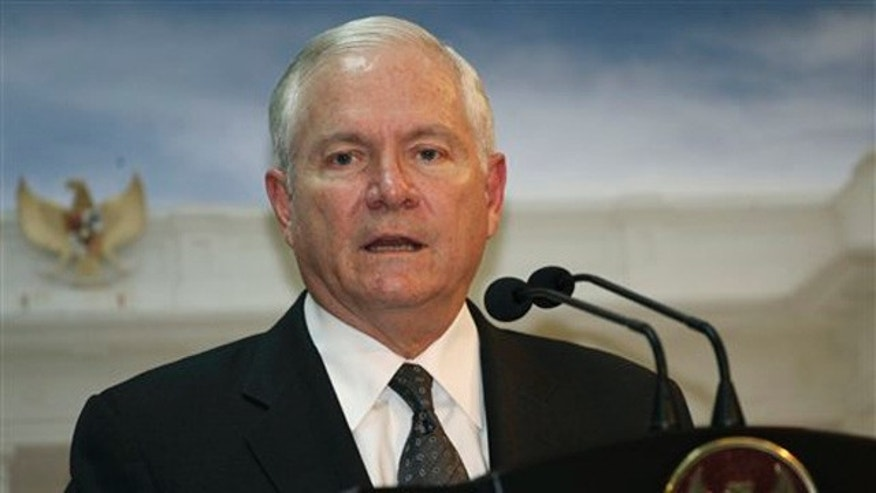 Defense Secretary Robert Gates is shown here speaking to reporters in Jakarta, Indonesia, July 22. (AP Photo)