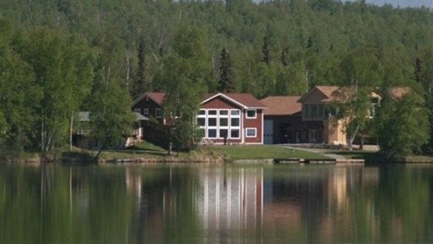 Former Alaska Gov. Sarah Palin's house in Wasilla, Alaska, is seen on May 27. (AP Photo)