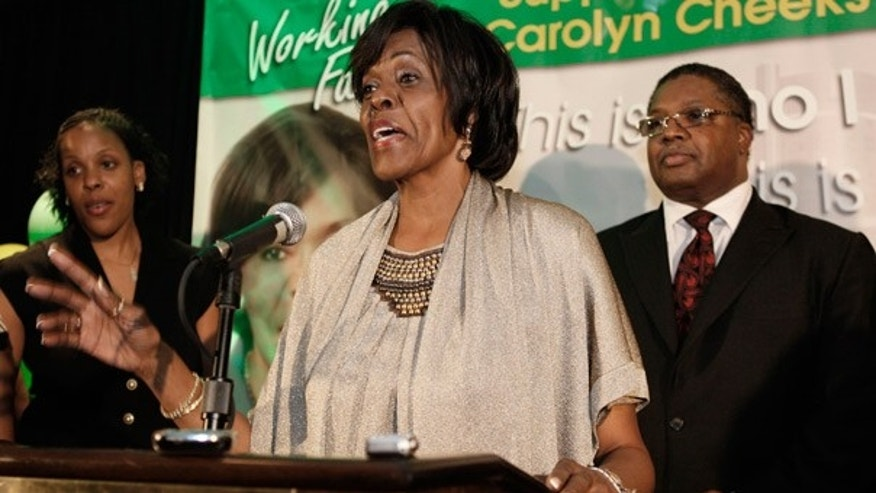 Aug 4: Rep. Carolyn Cheeks Kilpatrick, D-Mich., delivers her concession speech in Detroit.