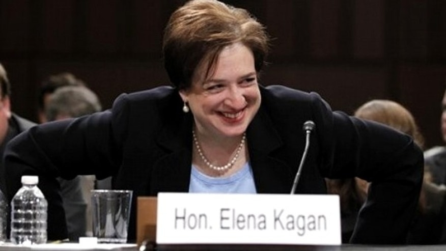 June 30: Kagan, seen here at a Senate Judiciary Committee hearing on her nomination, was confirmed by the Senate Thursday, making her the fourth woman ever to serve as a Supreme Court justice.