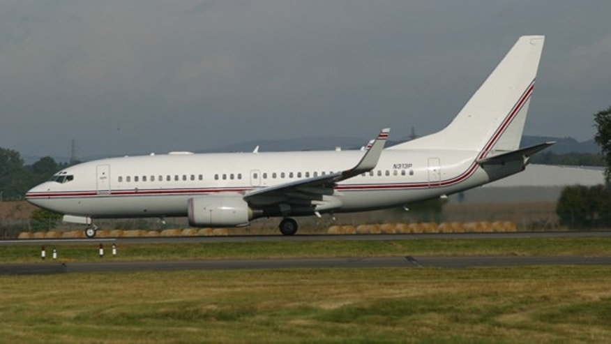 FILE: This Boeing 737, seen in Glasgow, Scotland on Sept. 7, 2003, has been identified by European investigators as a plane used for CIA rendition flights. Flight records and interviews with The Associated Press show the plane brought at least four high-value terrorists into Guantanamo Bay in 2003, years earlier than has been previously disclosed.