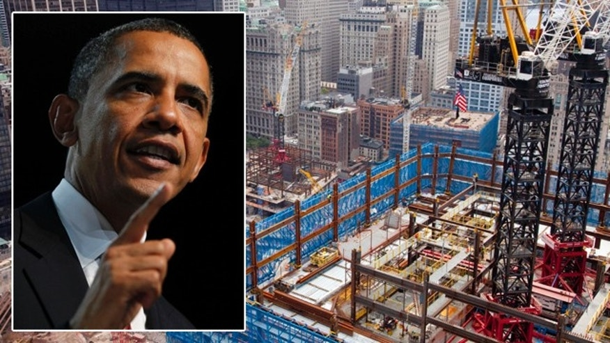 President Obama on Friday forcefully endorsed building a mosque near ground zero, saying the country's founding principles demanded no less.