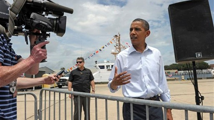 President Obama talks about his position on the mosque at Ground Zero at the U.S. Coast Guard Panama City District Office in Panama City, Fla., Aug. 14. (AP Photo)