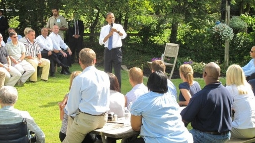 Aug. 18: President Obama holds a discussion on the economy and other issues with a group of Ohio families at a private residence.