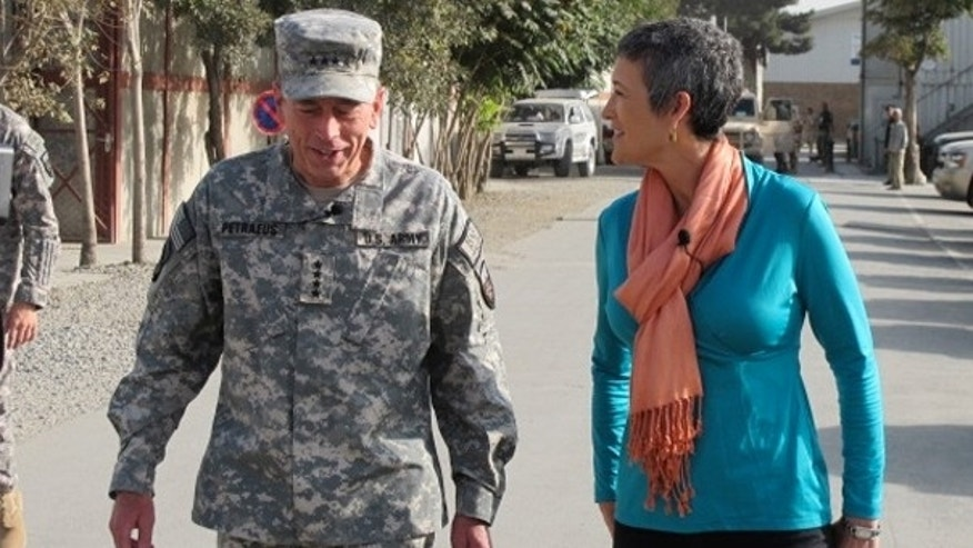National Security Correspondent Jennifer Griffin walks & talks with Gen. David Petraeus