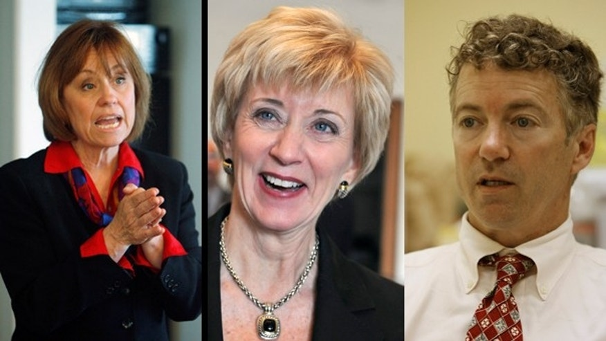 Sharron Angle, Linda McMahon and Rand Paul are among the new faces of GOP candidates hoping to help the party reclaim the Senate. (AP)