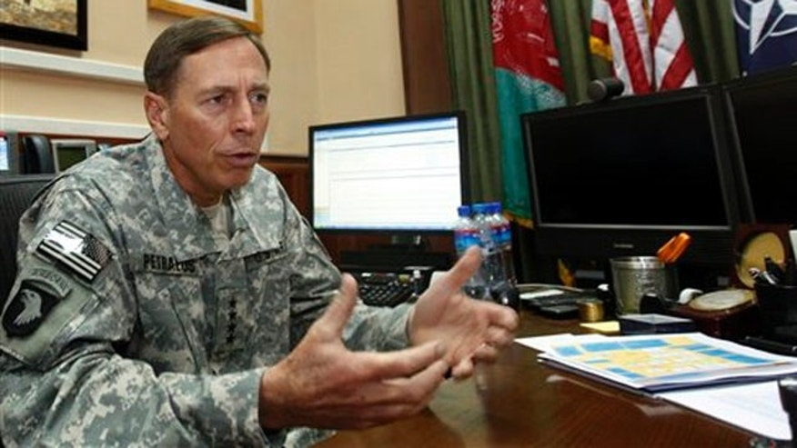 Aug. 31, 2010: Gen. David Petraeus, the commander of ISAF and U.S. forces in Afghanistan speaks to the media at his office in Kabul, Afghanistan (AP).