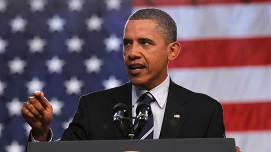 President Obama delivering remarks on the economy Sept. 8 at Cuyahoga Community College West Campus in Parma, Ohio. (AP Photo)