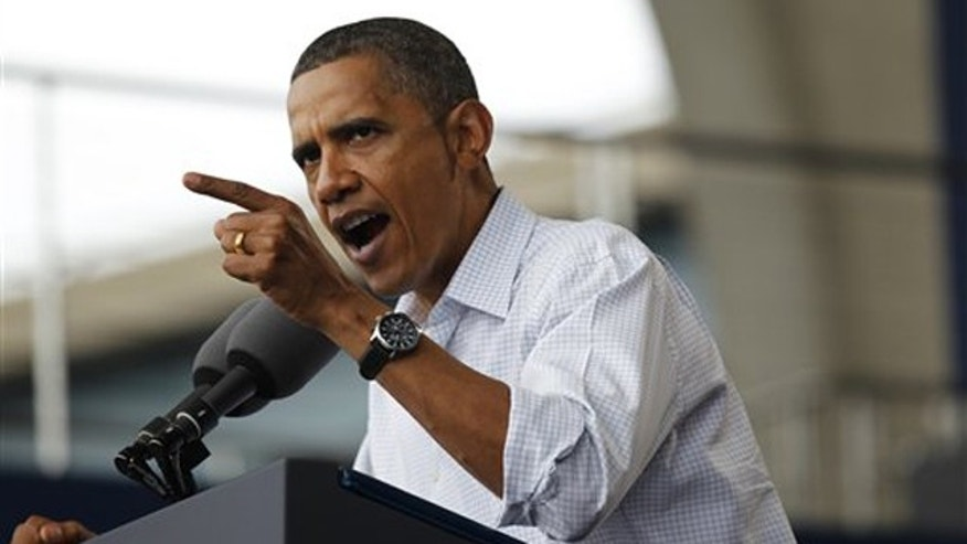 President Obama speaks on the economy at the Milwaukee Laborfest in Milwaukee Sept. 6. (AP Photo)