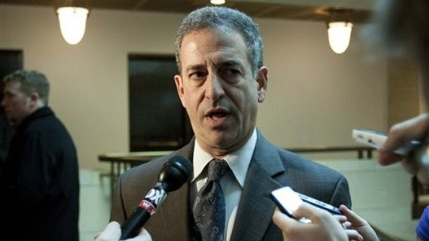 In this Dec. 9, 2009 file photo, Sen. Russ Feingold, D-Wis. speaks to reporters on Capitol Hill in Washington, D.C. (AP)