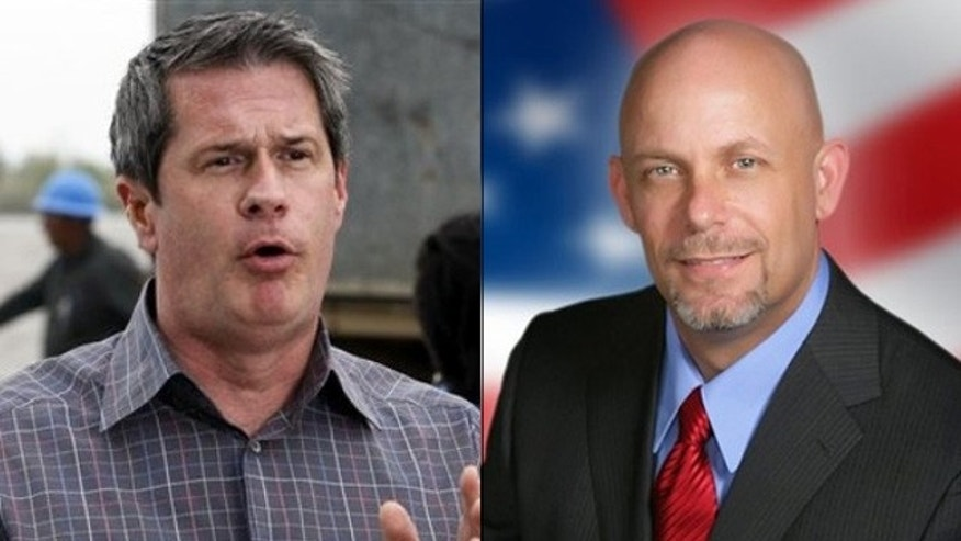 Shown here are Louisiana Sen. David Vitter, left, and Senate candidate Mike Spears. (AP Photos)