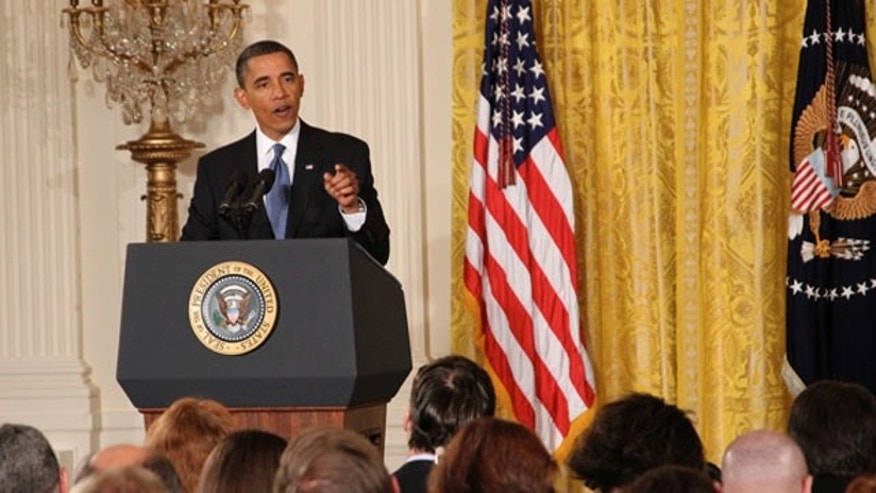 President Obama takes questions from reporters at the White House Sept. 10. (FNC)