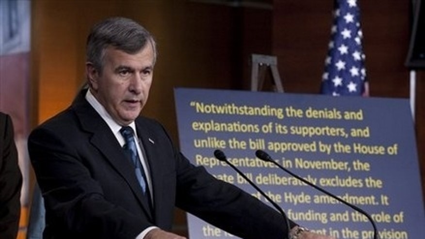 FILE: In this March 18 photo, Sen. Mike Johanns, R-Neb., speaks at a news conference on the Senate-passed health care bill.