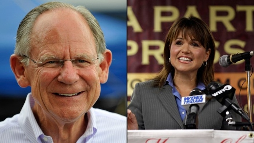 U.S. Rep. Mike Castle and Tea Party darling Christine O'Donnell are locked in a nasty GOP Senate primary battle in Delaware. (AP)