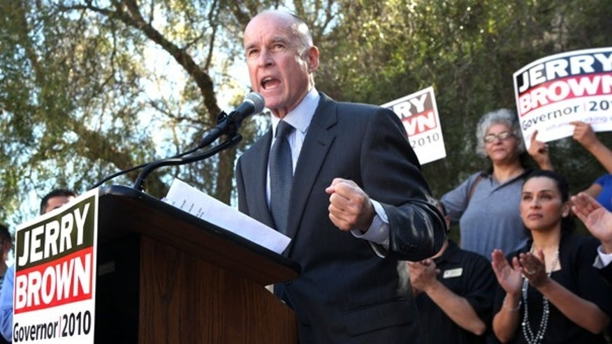 Sept. 2: California Democratic gubernatorial candidate Jerry Brown at a campaign stop at Laney College in Oakland, Calif.