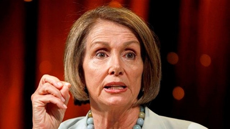 In this July 24 file photo, House Speaker Nancy Pelosi speaks in Las Vegas on July 24. (AP Photo)