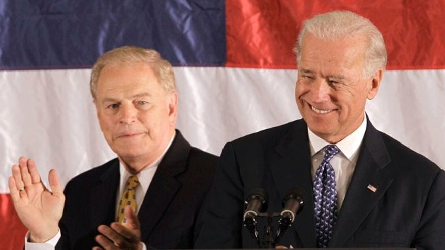 Vice President Joe Biden appears at a campaign rally for Ohio Gov. Ted Strickland, left,  in Akron, Ohio, Monday, Sept. 20, 2010.  (AP Photo/Amy Sancetta)