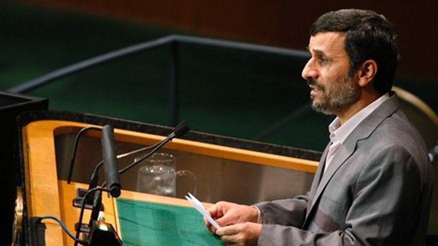 Iranian President Mahmoud Ahmadinejad speaks at a summit on the Millennium Development Goals at United Nations headquarters Sept. 21. (AP Photo)