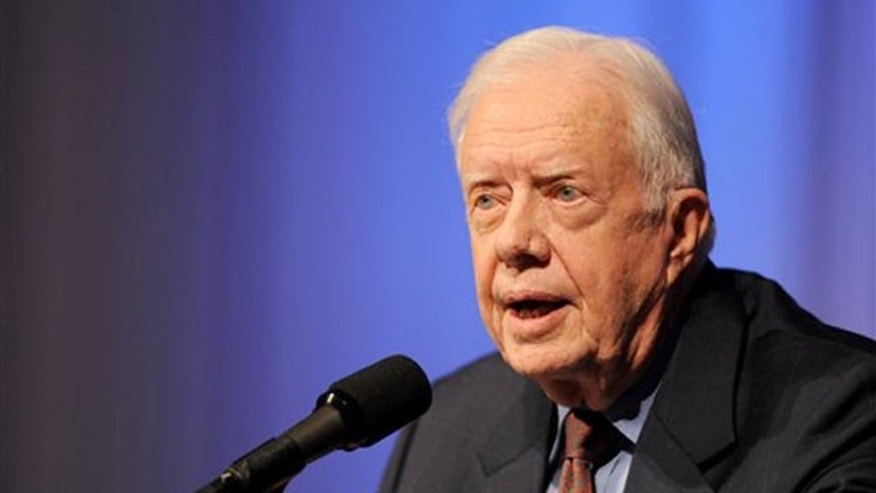 Former President Jimmy Carter speaks at The Carter Center Sept. 14 in Atlanta. (AP Photo)