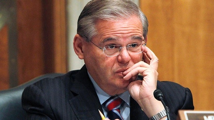 Sept. 29, 2010: Sen. Robert Menendez, D-N.J., is seen on Capitol Hill during the committee's hearing on the release of the Lockerbie bomber Abdel Baset al-Megrahi last year (AP).