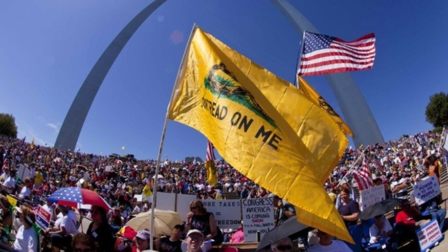 Sept. 12: Tea Party supporters gather on the steps of the Gateway Arch for the 'Gateway to November' rally in St. Louis.