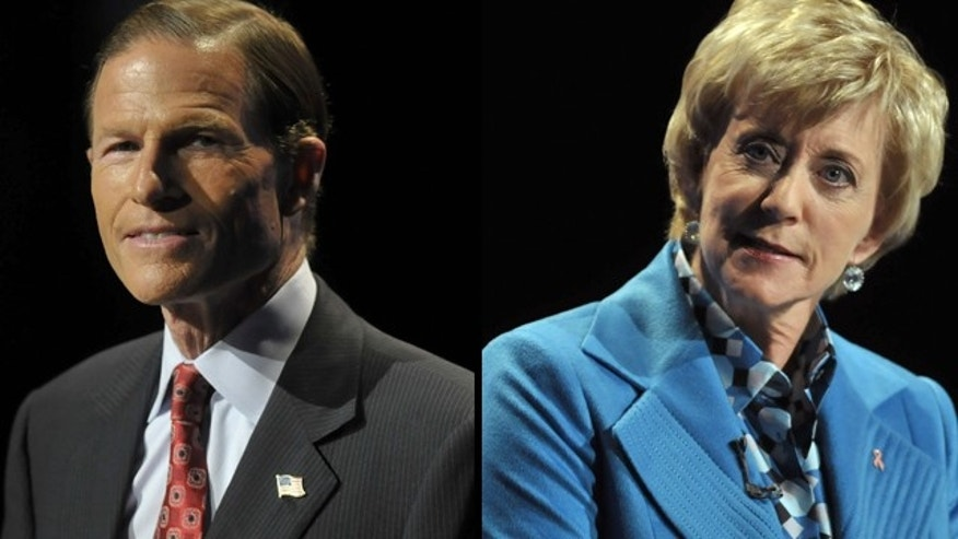 Oct. 4, 2010: Connecticut Attorney General Richard Blumenthal and former WWE executive Linda McMahon pulled no punches Monday in their Senate race debate, moderated by Fox News' Bret Baier.