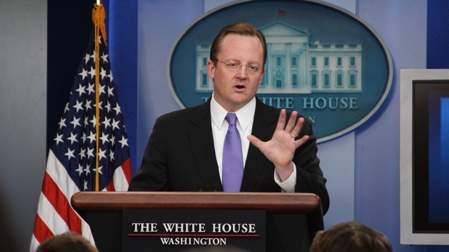 Robert Gibbs at the press briefing October 4, 2010 (Fox News Photo)