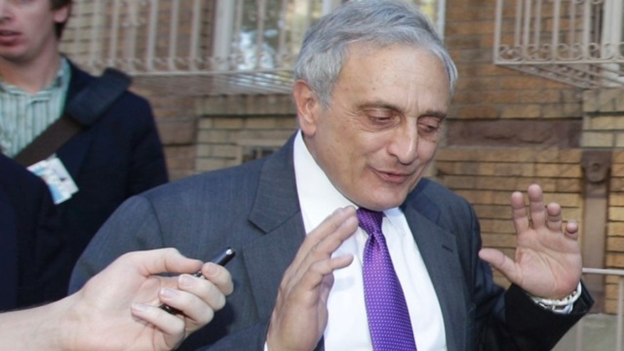 Oct. 10: New York Republican gubernatorial candidate Carl Paladino gestures after a reporter's question about prior controversial remarks while campaigning in the Borough Park and Williamsburg sections of the Brooklyn borough of New York.