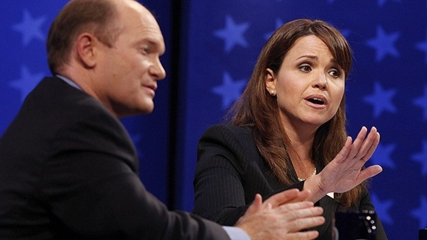 Oct. 13: Democrat Chris Coons and Republican Christine O'Donnell debate at the University of Delaware in Newark, Del.