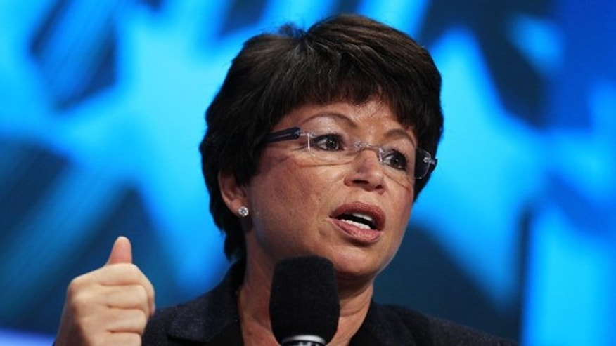 Valerie Jarrett speaks during a session at the Clinton Global Initiative in New York Sept. 22. (Reuters Photo)
