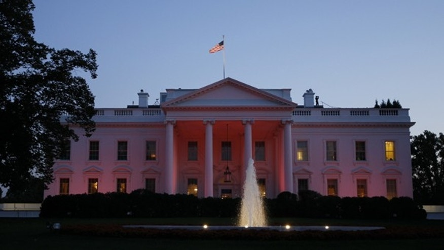 Oct. 14: The White House is bathed in pink light in recognition of October as National Breast Cancer Awareness Month.