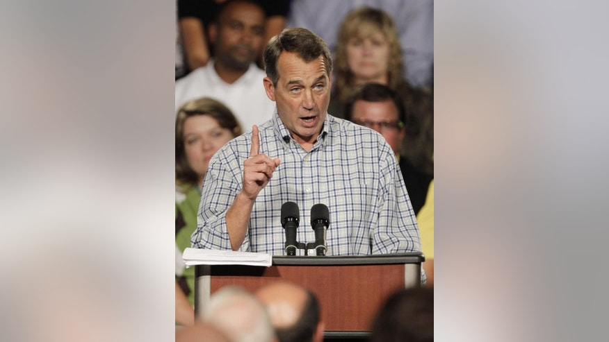 House Minority Leader John Boehner in Ohio October 2010/AP