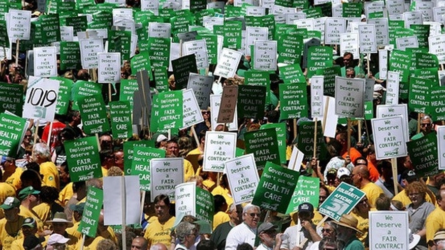 AFSCME members at a rally in Illinois in 2008.